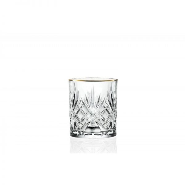BICCHIERE GOLD AND GOLD CRYSTAL GLASS
